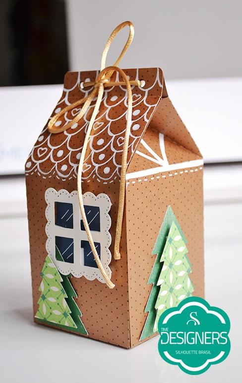 Presentes personalizados com a SIlhouette. Caixa natal personalizada