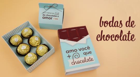 a433763ee6928 Molde de Caixa para Chocolates - Bodas 5 meses de Namoro
