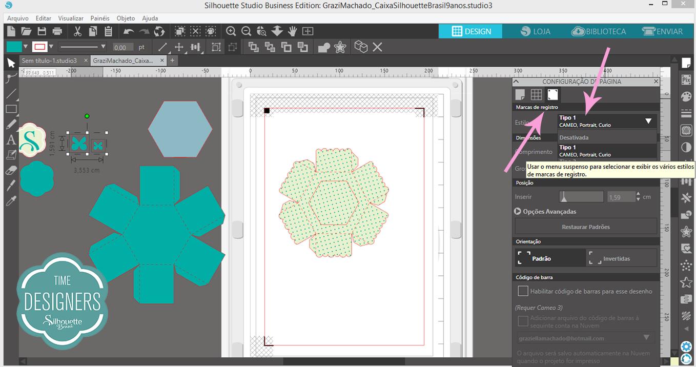 Print and Cut na Silhouette, como imprimir e cortar