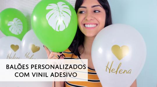 Balões Personalizados com Vinil Adesivo