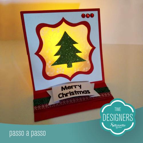 Ideias para enfeites de natal - cartão de natal iluminado
