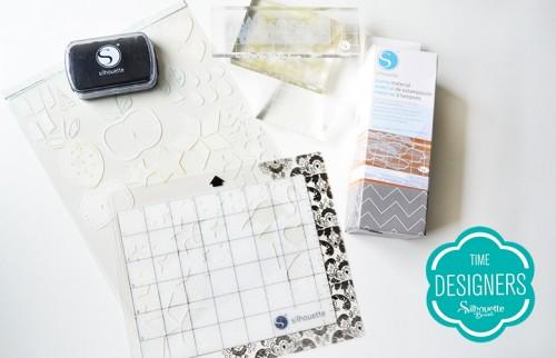 Material para Artesanato: Kits Iniciais da Silhouette tinta para tecido carimbos personalizados