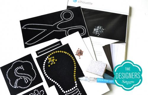 Material para Artesanato: Kits Iniciais da Silhouette aplicação de strass