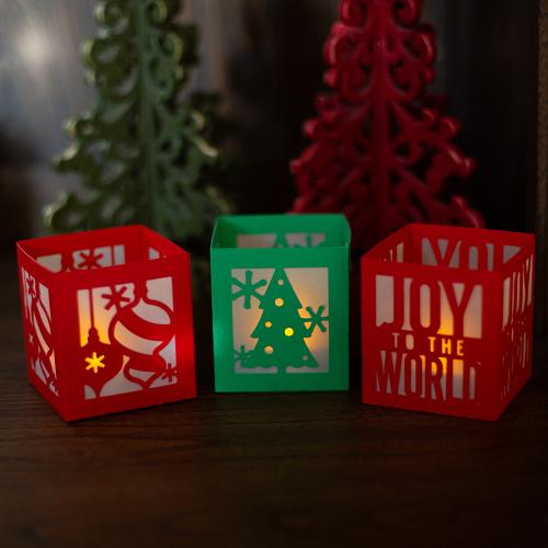 Ideias para enfeites de natal - porta velas