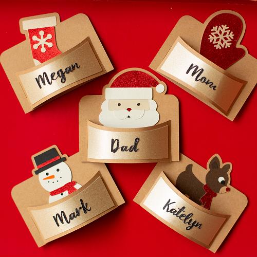 Ideias para enfeites de natal - porta cartão de natal