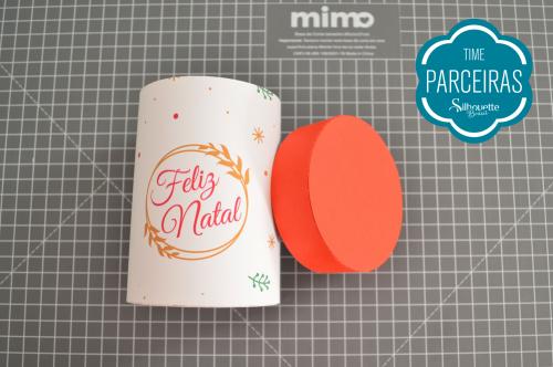 Caixa para Mini Panetone - Molde Grátis - Embalagem de natalina Personalizada