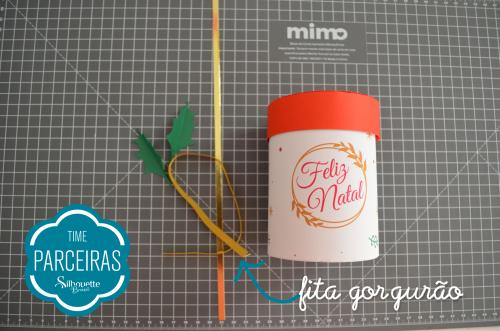 Caixa para Mini Panetone - Molde Grátis - Caixinha de natal