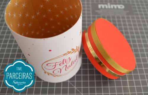 Caixa para Mini Panetone - Molde Grátis - Embrulho de Natal