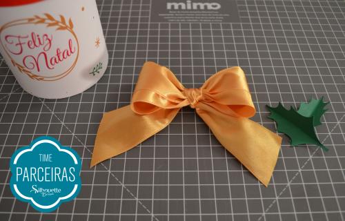Caixa para Mini Panetone - Molde Grátis - Laço para caixa de natal