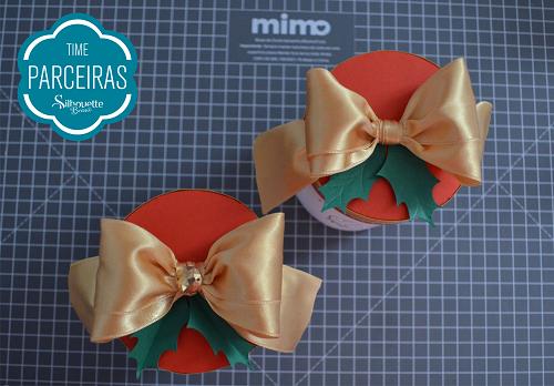 Caixa para Mini Panetone - Molde Grátis - caixa para presente de natal