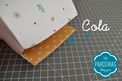 Caixa para Mini Panetone - Molde Grátis - Natal Silhouette