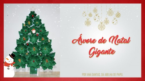 Como Fazer uma Árvore de Natal de Papel