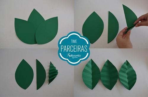 Como fazer uma árvore de natal de papel - árvore de natal silhouette