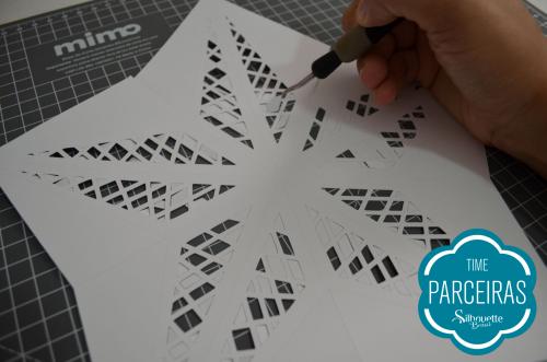 Como fazer uma árvore de natal de papel - estrela de natal personalizada
