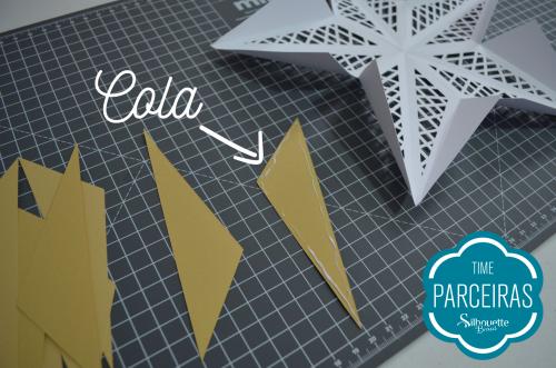 Como fazer uma árvore de natal de papel - estrela de natal na silhouette
