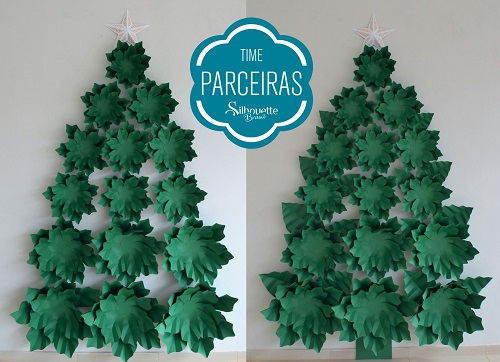 Como fazer uma árvore de natal de papel - árvore de natal  feita a mão