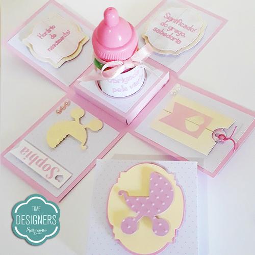 Arquivos grátis para Silhouette convite de chá de bebe lembrancinha de maternidade