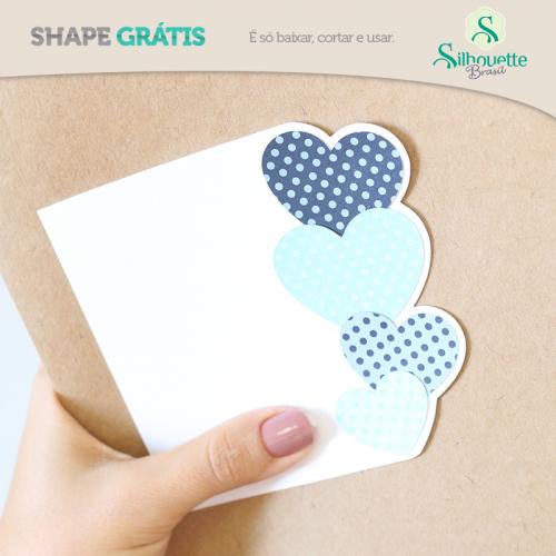 Jantar romântico Dia dos Namorados - Home decor na Silhouette - Cartão de corações