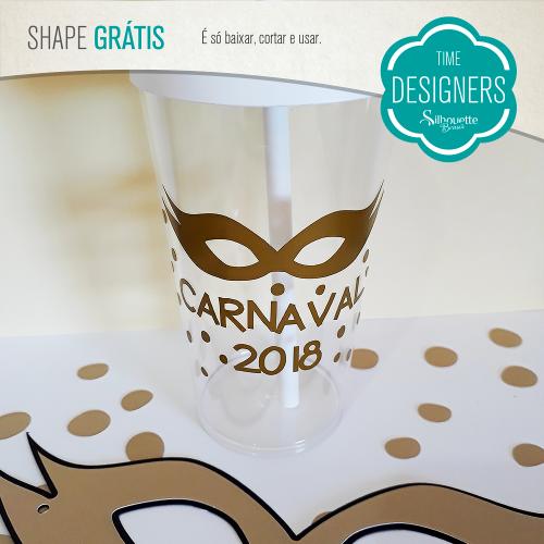 Arquivos de Carnaval para Silhouette - copos personalizados