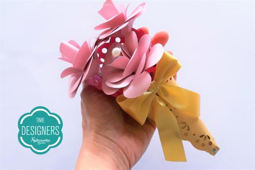 DIY Arranjo de Flores de Papel - Lembrancinha fofa para o dia da Mulher