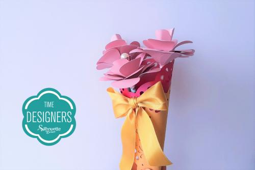 DIY Arranjo de Flores de Papel - Presente para o dia da Mulher