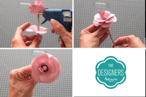 DIY Arranjo de Flores de Papel - Lembrancinha para o dia da Mulher rosa personalizada