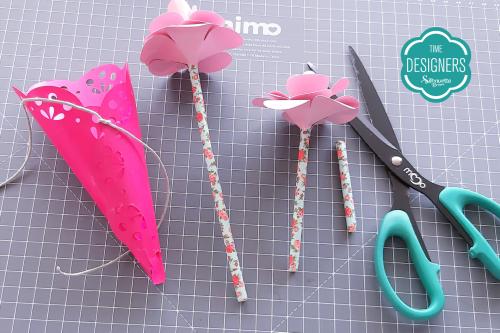 DIY Arranjo de Flores de Papel - Lembrancinha para o dia da Mulher cone para flores