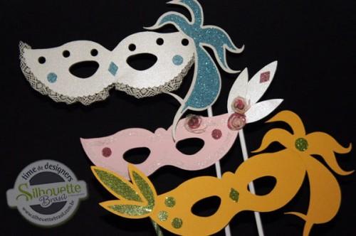 Arquivos de Carnaval para Silhouette - máscaras de carnaval com glitter