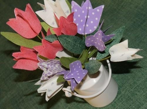 Lembrancinhas para o Dia da Mulher Moldes Grátis - Flores e vasos personalizados