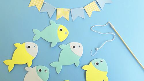 Como cortar EVA com glitter na Silhouette - molde para pescaria infantil
