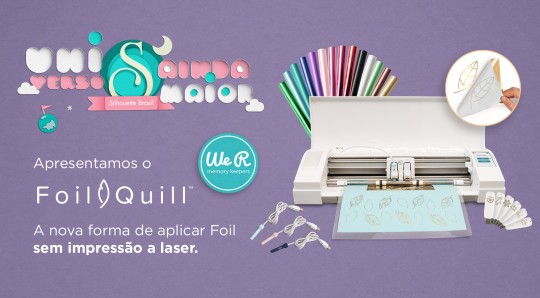 Foil Quill - como usar foil quill na silhouette
