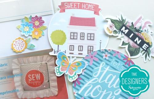 Personalizando tecidos com a Silhouette - decoração