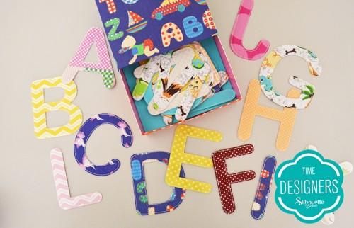 Personalizando tecidos com a Silhouette - alfabeto de tecido