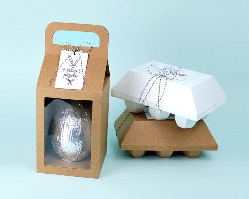 Caixas para ovo de páscoa - arquivos grátis