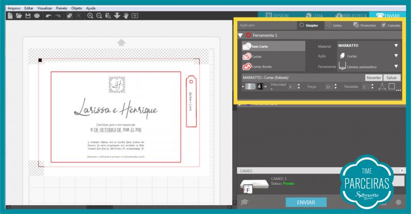 Como Fazer Hot Stamping - configuração Silhouette Studio