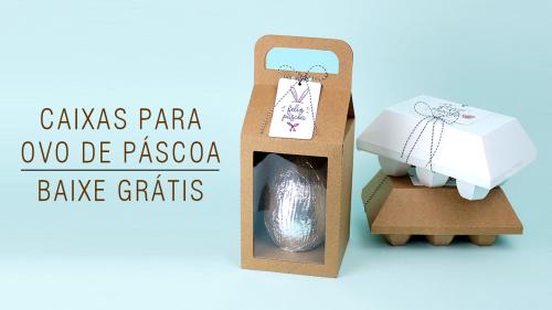 Caixas para ovo de páscoa - molde grátis