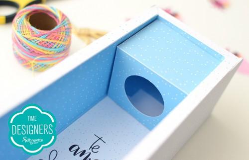 Caixa para Mini Vinho - ideia de presente com a Silhouette