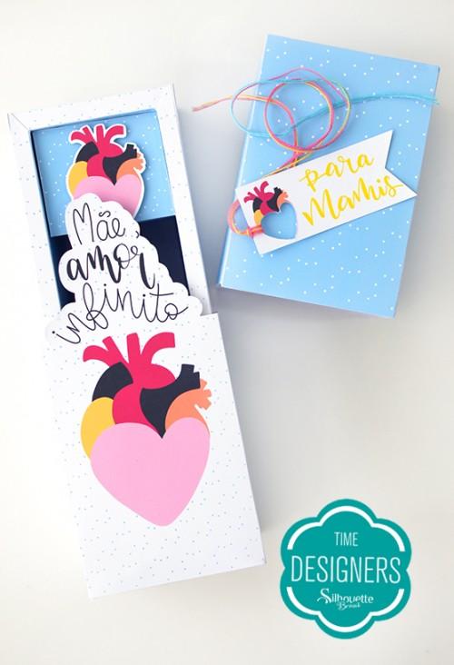 Caixa para Mini Vinho - caixinha para as mães