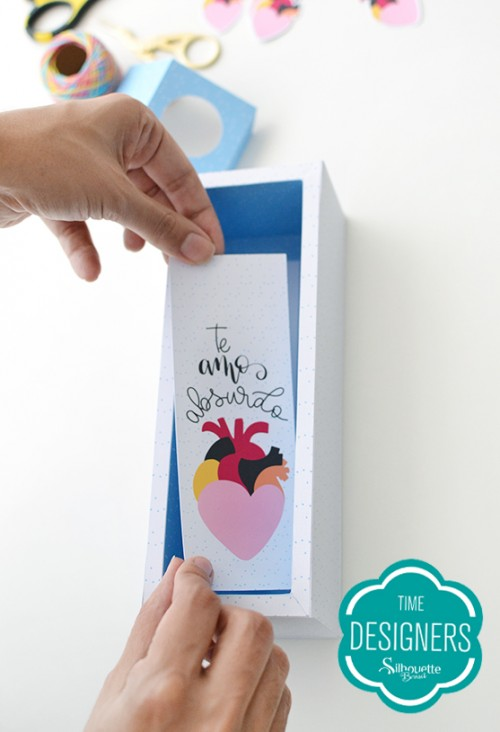 Caixa para Mini Vinho - caixa com ilustração