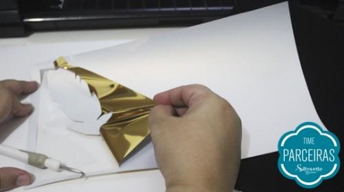 Adesivo Termocolante para Tecido - aplicando transfer