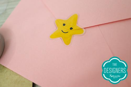 Como fazer Adesivo Resinado com a Silhouette - selo para convite