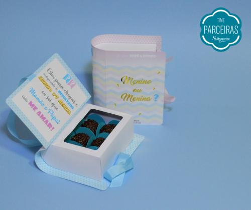 Caixinha para Doces - lembrancinha personalizada chá de revelação