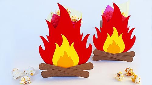 Cinco Ideias para Festa Junina - caixa fogueira para doces