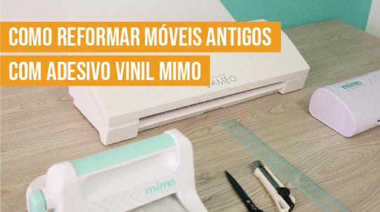 DIY Como Customizar Móveis Antigos - Reforma de mesa com vinil adesivo