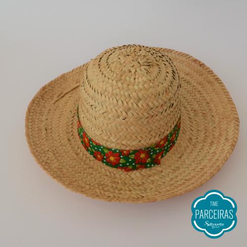 Chapéu com fita - Chapéu de Palha Personalizado - Diy Festa Julina