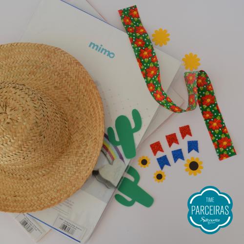Chapéu e Enfeites Cortados - Chapéu de Palha Personalizado - DIY Festa Julina
