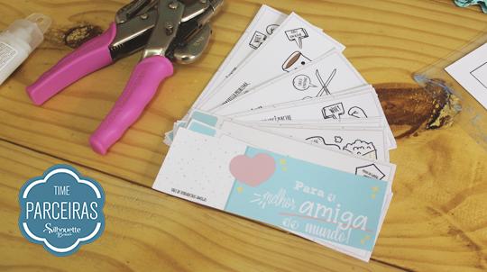 Presente para Amigo - DIY com Molde Grátis - Páginas do ticket cortadas