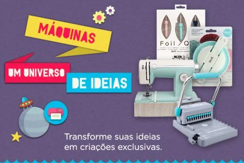 Máquinas - Universo de Ideias - Materiais para Scrapbook - Equipamentos, Ferramentas e Insumos