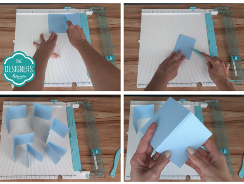 Vincando o Papel: Como Fazer Vinco - DIY Mini Álbum de Scrapbook