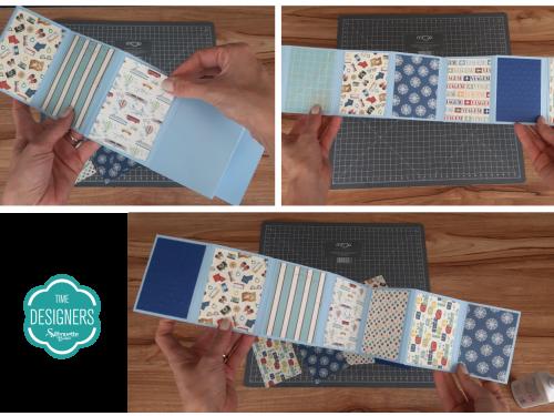 Parte Interna com Várias Estampas - Como Fazer Vinco: DIY Mini Álbum de Scrapbook